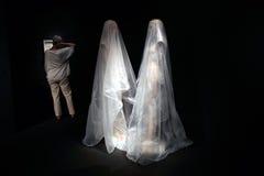 Modern art exhibit Stock Images
