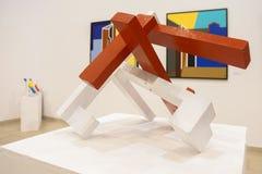 Modern art exhibition Stock Image