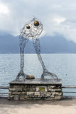 Modern art Before Flight in Montreux Royalty Free Stock Photography