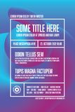 Modern art flyer poster template. Modern vector flyer poster template with abstract shape and sample content in the table design vector illustration