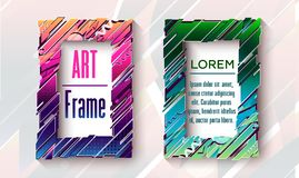 Modern art frames with abstact elements. For your design vector illustration