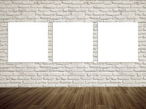 Modern art gallery Empty picture on the wall royalty free stock image
