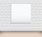 Modern art gallery Empty picture on the wall royalty free illustration