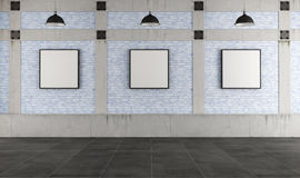 Modern art gallery in a loft Royalty Free Stock Photo