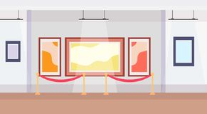 Modern art gallery museum interior creative contemporary paintings artworks or exhibits flat horizontal stock images