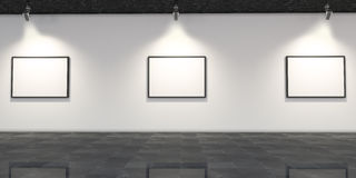Modern Art Gallery Room Interior Design Royalty Free Stock Images