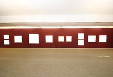 Modern art gallery space with blank canvas Royalty Free Stock Photography