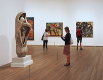 Modern art gallery Stock Photos