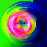 Modern art geometric swirl background - full spectrum rainbow infra colored. Abstract modern art geometric swirl background - full spectrum rainbow infra colored royalty free illustration