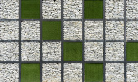 Modern art Grass and Stone Wall 3 Royalty Free Stock Photos