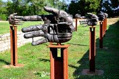 Modern art :hands Stock Image