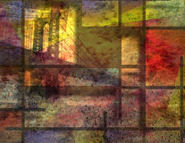 Modern Art Inspired Landscape New York City stock illustration