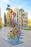 The modern art in Jerusalem Stock Photography