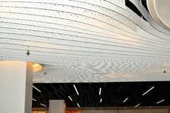 modern art light design concept in Schiphol airport in Holland Royalty Free Stock Images