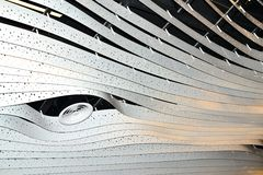 modern art light design concept in Schiphol airport in Holland Royalty Free Stock Photography