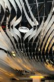 modern art light design concept in Schiphol airport in Holland Stock Image