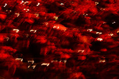 Modern art. Long exposure LED lights blur black background Stock Photography