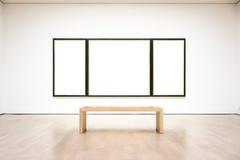 Modern Art Museum Frame Wall Clipping bana isolerad vit vektor arkivbilder