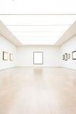 Modern Art Museum Frame Wall Clipping bana isolerad vit vektor royaltyfri bild