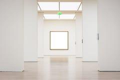 Modern Art Museum Frame Wall Clipping bana isolerad vit vektor Royaltyfria Bilder