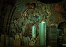 Manhattan. Modern art. New York, Manhattan Royalty Free Stock Photo