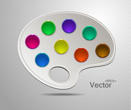 Modern art palette with colors Royalty Free Stock Image