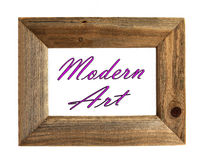 Modern Art - Picture Frame. Modern Art Picture Frame - Pink - Isolated on white stock photos