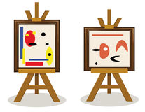 Modern Art Pieces Stock Photography