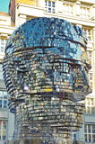 Modern art. Franz Kafka by David Cerny - landmark attraction in Prague, Czech Republic Royalty Free Stock Photos