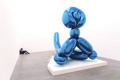 Modern art sculpture in art gallery. Interior shot of modern art scultpure Stock Photography