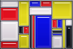 Modern art stained glass style Royalty Free Stock Photo