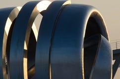 Modern art steel jet engine design Stock Photos