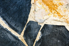 Modern art with stone. Royalty Free Stock Photo