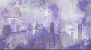Manhattan. Modern art. View to Manhattan Royalty Free Stock Image