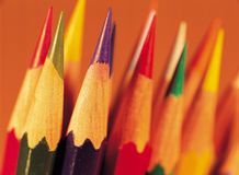 Modern Article. Pencils royalty free stock photography