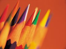 Modern Article. Pencils royalty free stock photos