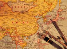 Modern Article. Map of China stock image