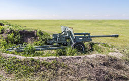 Modern artillery cannon Stock Image