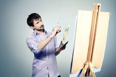 Modern artist Stock Photos