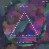 Modern Artistic Album Cover Watercolor Vector Royalty Free Stock Photos
