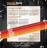 Modern Artistic WebDesign Template Stock Images