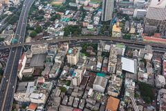Modern Asian megalopolis cityscape. Aerial view of modern Asian megalopolis cityscape. Bangkok, Thailand stock photos
