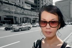 Modern Asian woman Royalty Free Stock Images