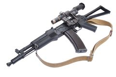 Modern assault rifle ak105 with optical sight Royalty Free Stock Photos