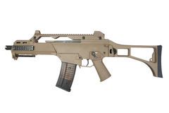 Modern assault rifle isolated. On a white background Royalty Free Stock Photography