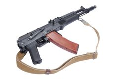 Modern assault rifle kalashnikov ak105 Royalty Free Stock Photography