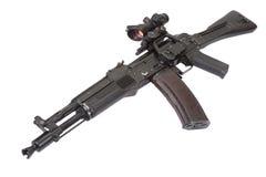 Modern assault rifle on white Royalty Free Stock Image