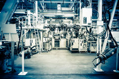 Modern assembly line Royalty Free Stock Photo