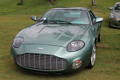 Modern aston martin db7 zagato. Isolated aston martin db7 zagato frontal view Stock Image