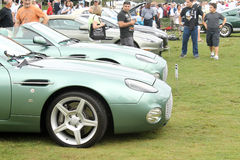 Modern aston martin db7 zagato in lineup Royalty Free Stock Photos